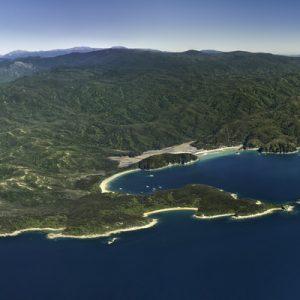 Abel Tasman National Park aerial view