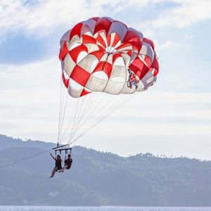 Parasailing activity in Cebu