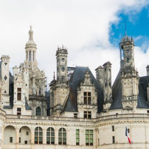 a view of one of Chateau de Chambord