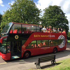 bus in bath