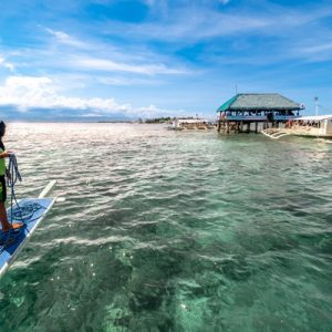 Pristine waters of Mactan island