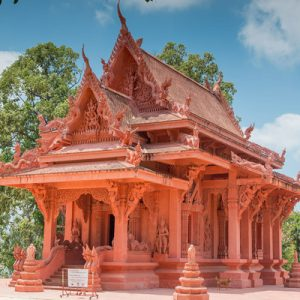red temple in thailand