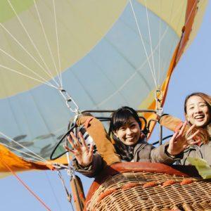 Hop on a hot air balloon in the village of Niseko in Hokkaido, Japan!