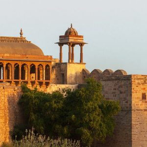 afternoon view at nagaur fort