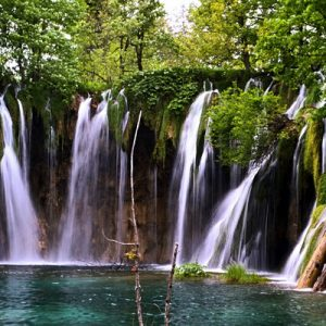 a lake in Plitvice Lakes National Park