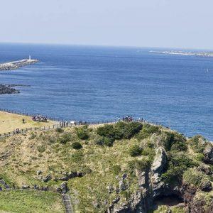 views of the east coast and the sea near jeju island