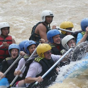 people river rafting in sabah