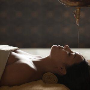 woman receiving treatment at tejas spa