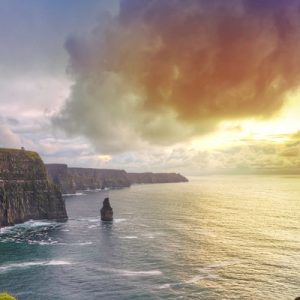 view of moher cliffs and ocean