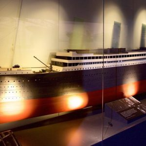 a scale model of the titanic ship