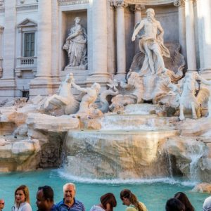 a view of the Trevi Fountain