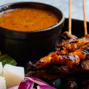 Satay at Tempo Bar River Valley