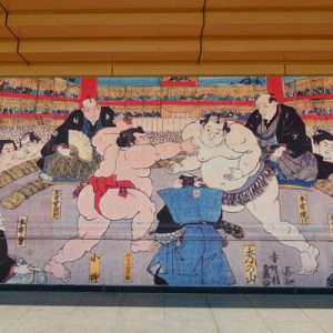 sumo wrestler walking guide tour