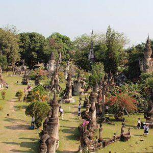 Buddha Park and Lao Textiles Tour