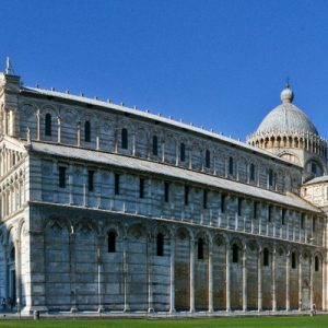 exterior of landmarks in piazza dei miracoli