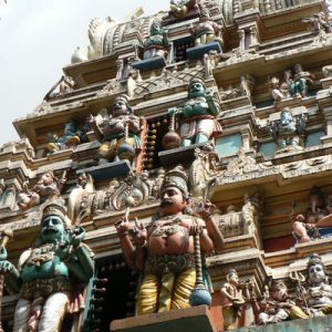 Indian temple facade in Bangalore