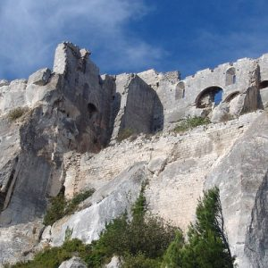 a stone structure in Les Baux-de-Provence