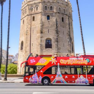 seville hop on hop off bus sightseeing tour torre del oro