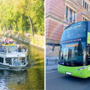 hop on hop off sightseeing bus and boat for berlin