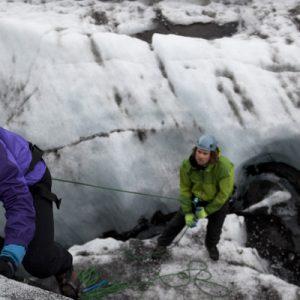iceland blue glacier hike