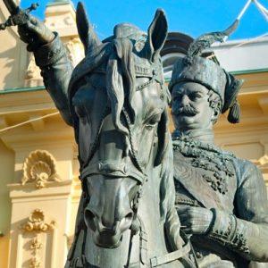 the statue of Josip Jelačić