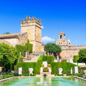 view of the gardens of Alcazar of Córdoba