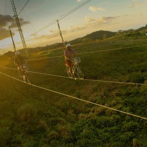 sky biking in danasan eco adventure park