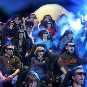 guests watching the 4D show at gaudi experience