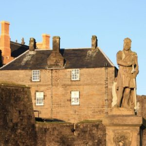 stirling castle with statue