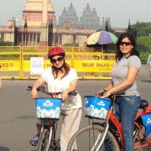 new delhi morning cycling tour