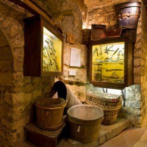 view of wine cellars of the paris wine museum