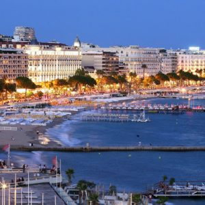 cannes coast and building