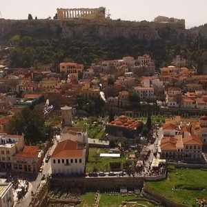 a view of Athens from a high place