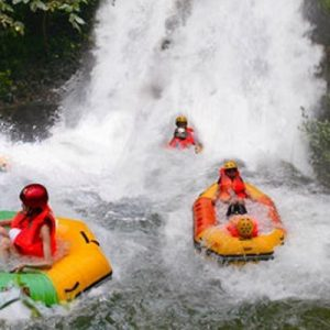 rafting in guangdong, best resorts in guangdong, qingquan bay eco resort, water parks with rafting in guangdong,