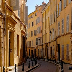 a street somewhere in Aix-en-Provence