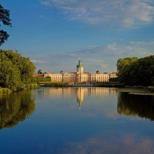 exterior of charlottenburg palace near lake