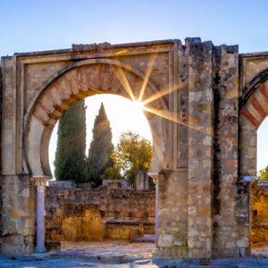 the ruins of Medina Azahara's arches