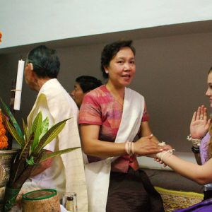 baci ceremony luang prabang