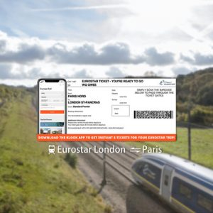 [E-Ticket] Eurostar Train Ticket between London and Paris (Standard Class)