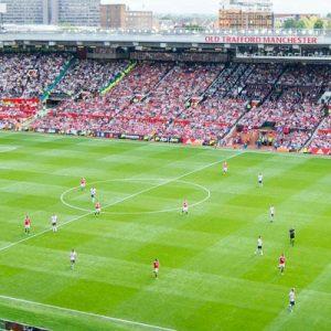 people inside football stadium