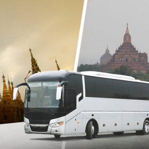 VIP Bus Ticket (One Way) between Yangon and Bagan