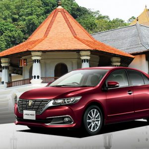 red hybrid hatchback premio in kandy