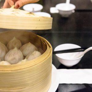 freshly cooked set of dumplings