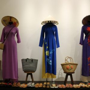 ao dai dresses in manequins