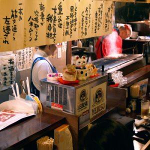 inside izakaya in sendai