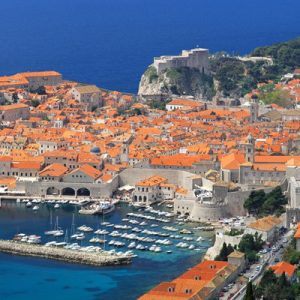 a panoramic view of Dubrovnik