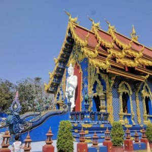exterior of blue temple