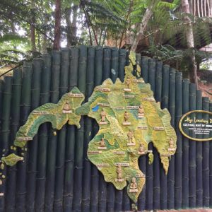 map of davao on a wall
