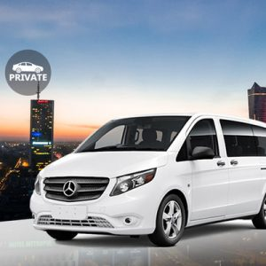 white sedan for Warsaw Frederic Chopin Airport transfers