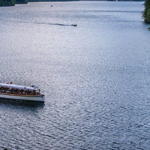 boat cruising on king's lake
